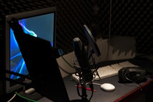 recording studio voiceover booth