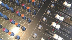 radio recording studio mixing desk