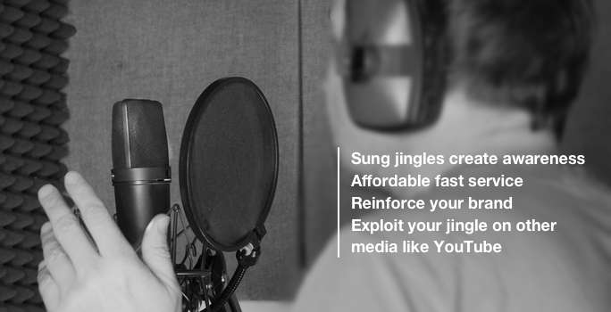 singer recording radio jingle